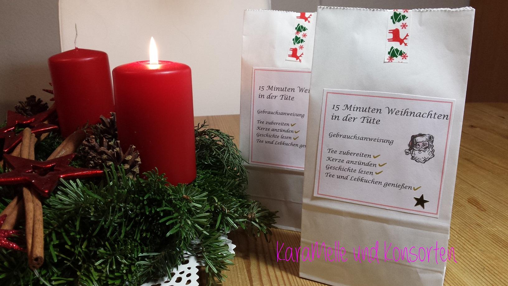 15 minuten weihnachten in der t te karamelle und konsorten. Black Bedroom Furniture Sets. Home Design Ideas