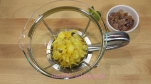 Ingwer-Zitronentee-Kanne vorbereitet