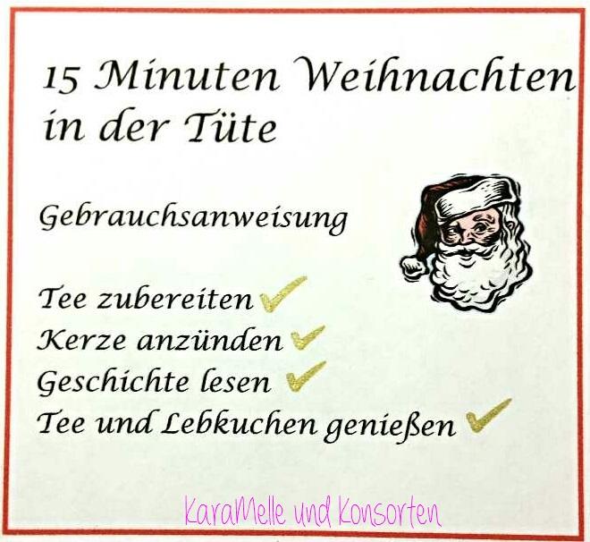 Kurzgeschichte Weihnachten.15 Minuten Weihnachten In Der Tüte Karamelle Und Konsorten