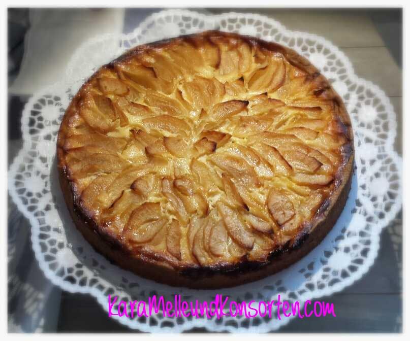 Karamelles Apfel Quark Kuchen Karamelle Und Konsorten