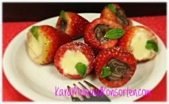 Erdbeeren - Schoki-Teller OK